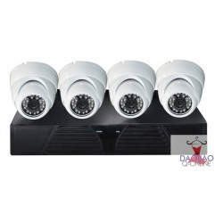 4CH 960H DVR, 1/4 METAL CMOS Camera 700TVL,3.6mm lens,24pcs ф5 IR-LED(404K-CR8)
