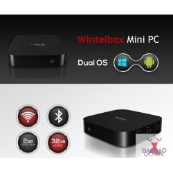 Wintel 8 , Intel Atom Z3735F, BT4.0, WiFi, 2G RAM + 32GB ROM Windows 10 Mini pc android TV Box Dual OS